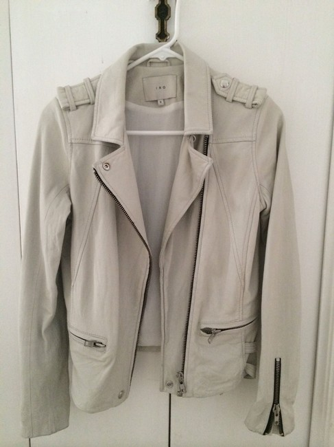 IRO J & Bone Alexander Wang Helmut Lang Rick Owens Veda Muubaa All Saints Haider Ackermann Phillip Lim Isabel Marant Acne White Leather Jacket