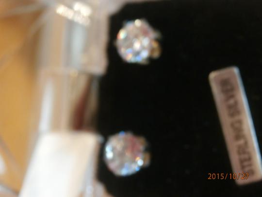 Other NEW STERLING SILVER 8CTW CUBIC ZIRCONIA EARRINGS Image 1