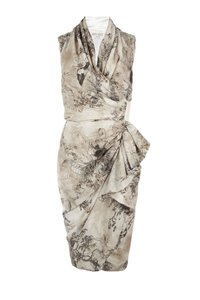 AllSaints Skull De Jouy Silk Wrap Dress