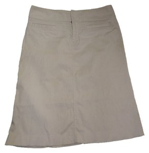 Gap Corduroy Everyday Wear Below Knee Skirt Beige