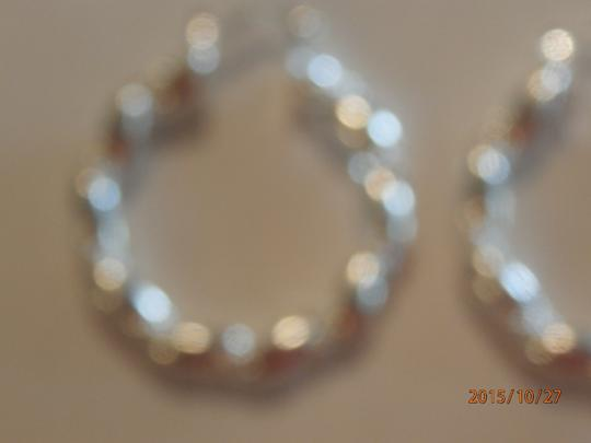 Silver Solid Sterling Plated Hoop Free Shipping Earrings Image 4