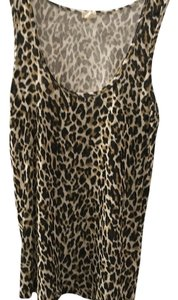 J.Crew Top Brown and black leopard print