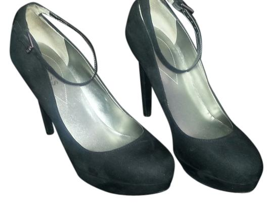 Guess Ankle Strap Suede Black Pumps