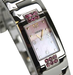 Versace Stainless steel pink diamonds