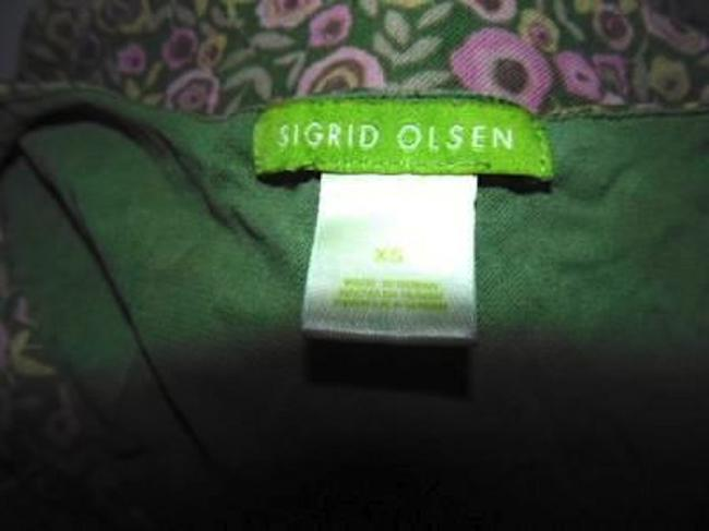 Sigrid Olsen X-small P182 Size Top GREEN PINK