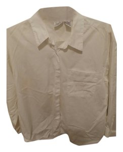 Jaclyn Smith Button Down Shirt White