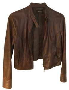 Moto Leather Brown Leather Jacket