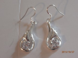 Solid Sterling Silver Plated Earrings Free Shipping