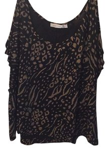 MINKPINK T Shirt Black/Tan
