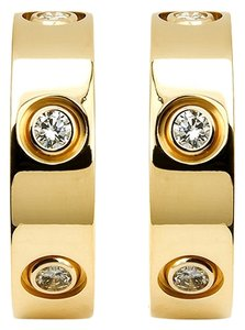 Cartier Cartier 6 Diamonds LOVE Earrings in 18 Karat Yellow Gold