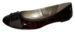 Isola Leather brown print Flats