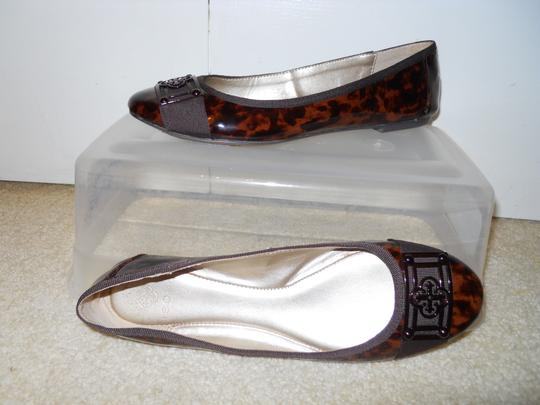 Isola Leather brown print Flats Image 1