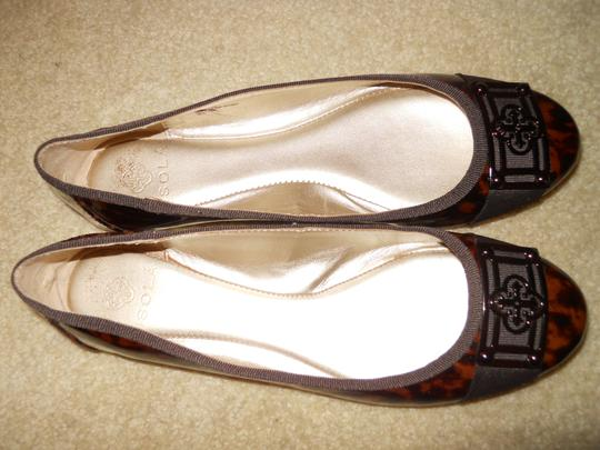 Isola Leather brown print Flats Image 4