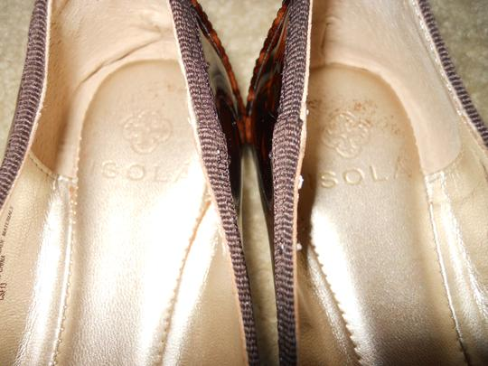 Isola Leather brown print Flats Image 5