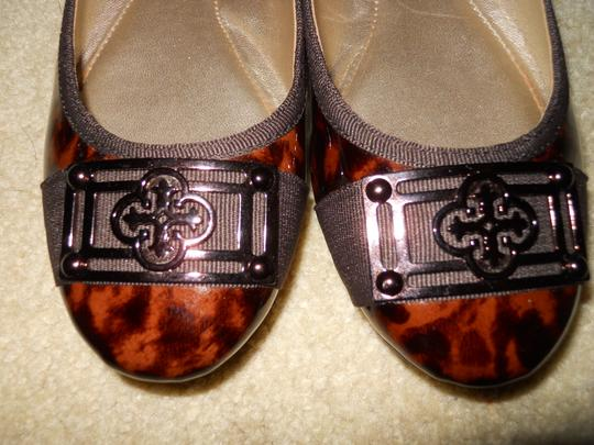 Isola Leather brown print Flats Image 6