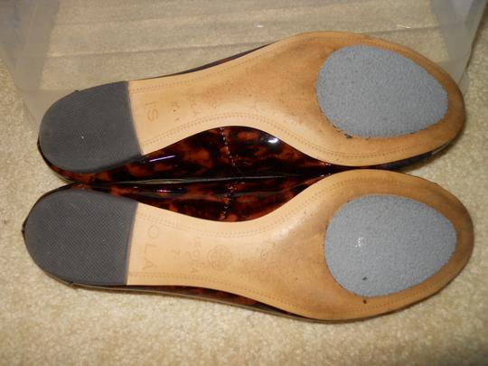 Isola Leather brown print Flats Image 8
