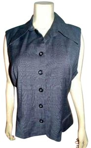 Banana Republic New Size 12 Vest Button Down Shirt GRAY