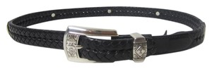 Brighton Brighton Black Belt with Silvertone Hardware Size M/30