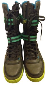 Nike Sneakers Fashion Sneaker Gray Slate Gray, Neon Green and Turquoise Boots
