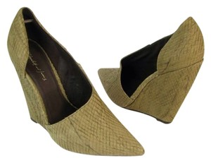 Elizabeth and James Taupe Wedges