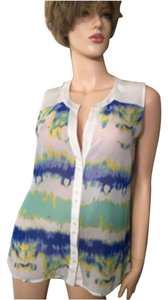 Catherine Malandrino Button Down Shirt White/multi