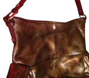 B. Makowsky METALLIC LEATHER Lobard Travelbag Chanel Coach Gucci Cross Body Bag