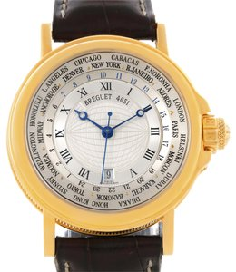Breguet Marine Hora Mundi 24 World Time Zones Yellow Gold Watch 3700