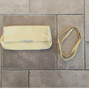 Zara Leather Shoulder Strap Small Purse Yellow Clutch