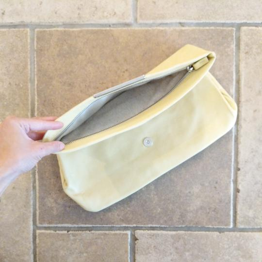 Zara Leather Shoulder Strap Small Purse Yellow Clutch Image 1