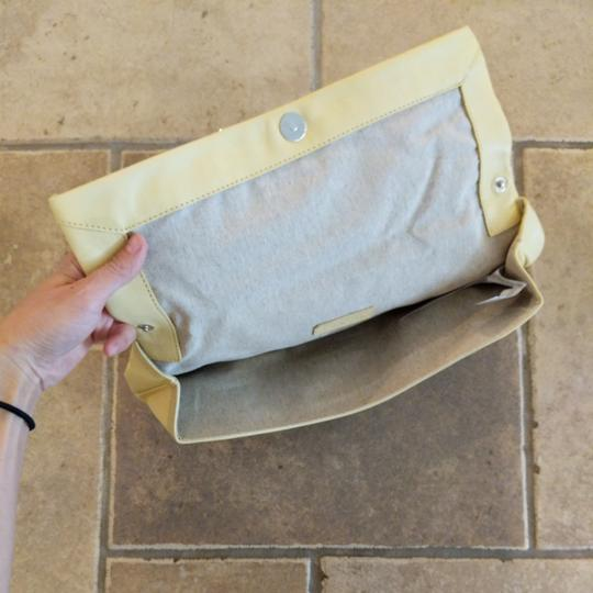 Zara Leather Shoulder Strap Small Purse Yellow Clutch Image 2
