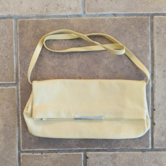Zara Leather Shoulder Strap Small Purse Yellow Clutch Image 4