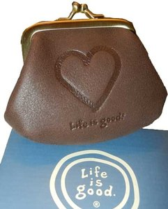 Life is Good Life Is Good brown coin purse