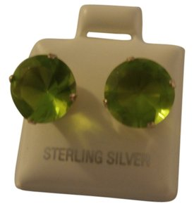 Other NEW STERLING SILVER 10MM ROUND STUD PERIDOT CZ