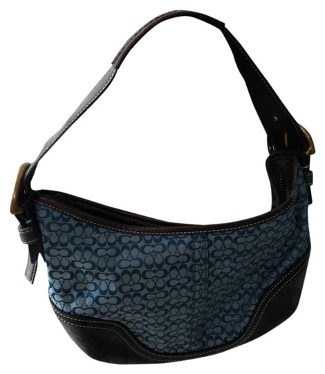 Preload https://item3.tradesy.com/images/coach-blue-fabric-and-suede-on-the-sides-shoulder-bag-813592-0-0.jpg?width=440&height=440