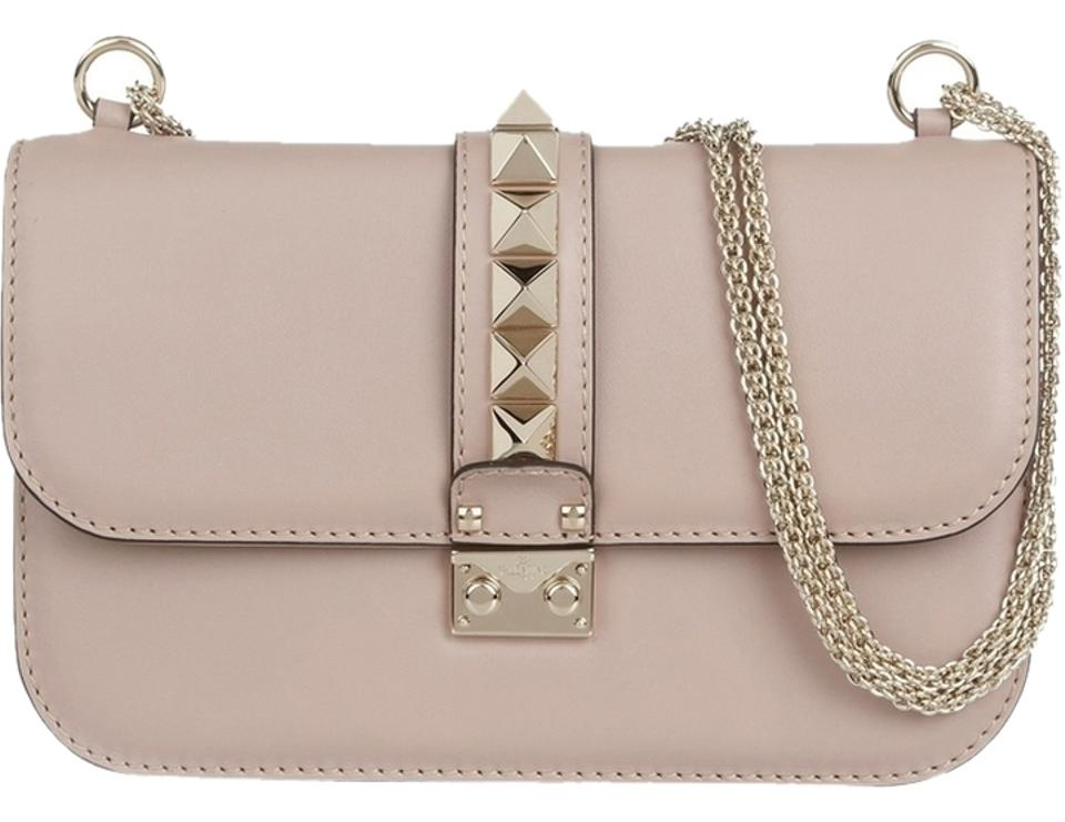 34289a0294 Valentino Rockstud Garavani Vitello Medium Glam Dark Pink Rose ...