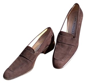Via Spiga Loafers Chocolate Brown Suede Flats