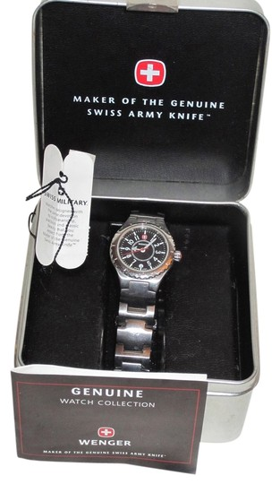 Wenger Wenger Stainless Steel Swiss Army watch