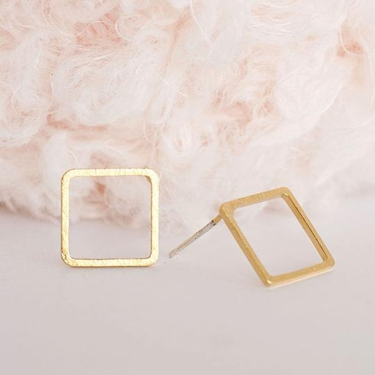 Other Hollow Square Stud Earrings Image 2