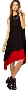 Diesel short dress Black and red on Tradesy