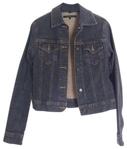 Theory Planet Blue Blu Moon Black / Gray Womens Jean Jacket