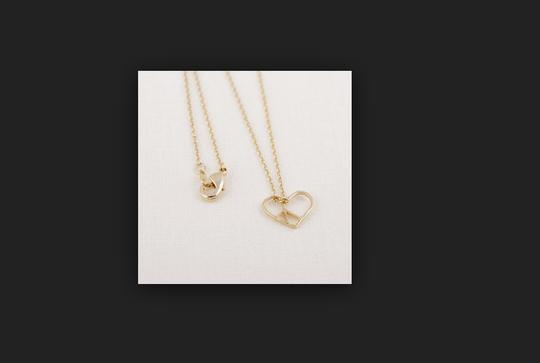 Other Open Heart Peace Necklace Image 2