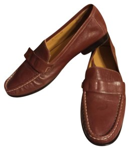 Cole Haan Brown/White Stitching Flats