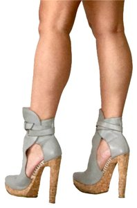 Herv Leger Grey Boots