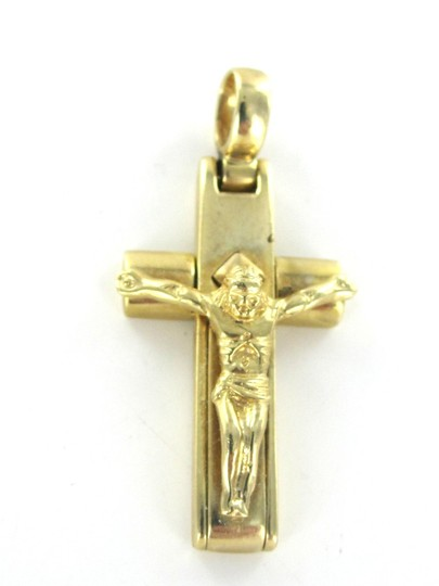 Other 14KT SOLID YELLOW GOLD CROSS CHARM 6.3 GRAMS PENDANT CRUCIFIX THICK 585 FAITH