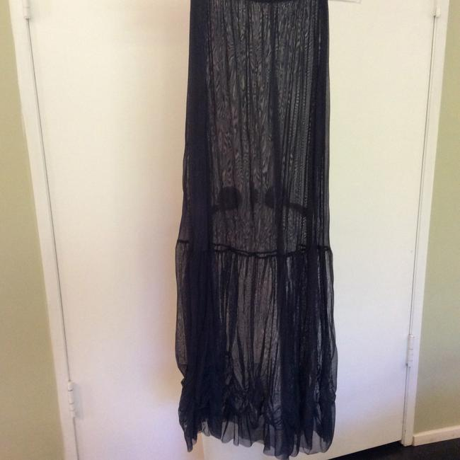 Navy Maxi Dress by tunic/skirt sheer mesh from France Image 1