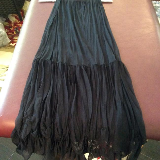 Navy Maxi Dress by tunic/skirt sheer mesh from France Image 4