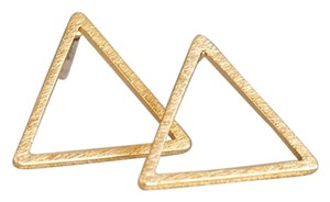 Other Triangle Gold Tone Stud Earrings