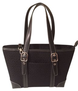 Back Shoulder Tote in Black and silver