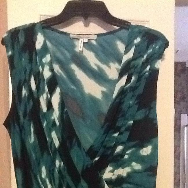 Max and Cleo short dress Teal/blue/black/white on Tradesy