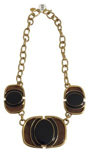 Kara Ross Black & Tortoise Shell Statement Necklace